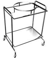 Столик-тележка для больничных отходов СИ-2-01 (БО)