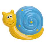 Schnecke gelb - blau
