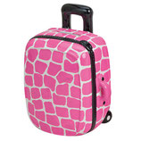 """Trolley pink mit """"Mauer"""" Muster"""