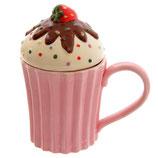 Cupcake Schoko mit Erdbeere