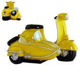 Roller mit Seitenwagen gelb