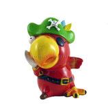 Pirat Papagei rot - grün