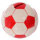 Fussball rot - weiss