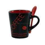 Coffee rot mit Löffel