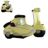 Roller mit Seitenwagen creme