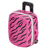 Trolley pink mit Tiger Muster