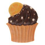 Cupcake Schoko - Orange