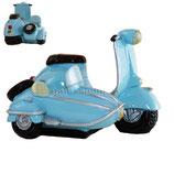 Roller mit Seitenwagen hellblau