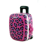 Trolley pink mit Leopard Muster