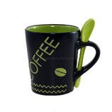 Coffee grün mit Löffel