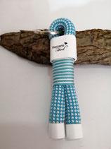 Tauschlüsselanhäner Weiß/Blau Herzenshund