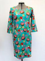 Dames jurk mint flowers