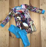 Skinny Gina /paneel alpaca met legging