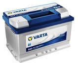 572 409 068 / E43 Varta Blue Dynamic Starterbatterie 72Ah