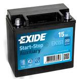 EK151 Exide Auxiliary Stützbatterie 15Ah