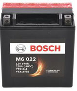 M6 022 Starterbatterie Bosch YTX16-BS