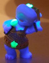 Variante Goldie Goldkehlchen fluoriszierend Happy Hippo Talent-Show 2009