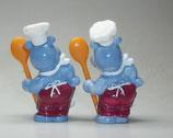 Variante Emil Eintopf hellviolett Die Happy Hippos auf dem Traumschiff 1992