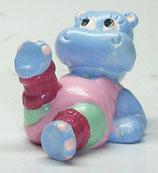Variante große Augen Babsy Baby Happy Hippos im Fitnessfieber 1990