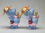 Variante Susi Sonneschein hellviolett Die Happy Hippos auf dem Traumschiff 1992