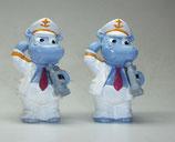 Variante Käpt'n Happy Hippo hellviolett Die Happy Hippos auf dem Traumschiff 1992