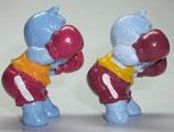 Varianten Brummer Beppo Hemd gelb + orange Happy Hippos im Fitnessfieber 1990