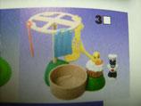 TT-3-12 Sylvester + Tweety mit Wäschespinne Variante Korb braun Looney Tunes  Maxi