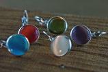 Ohrhänger, Antiksilber mit amethystfarbenem (lila) Glas