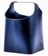 Kunstledertasche für Kaminholz