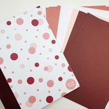 "Tinkerbook-Set ""Rosa Dots"" Bordeaux"