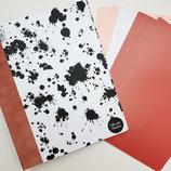 Tinkerbook-Set s/w gesprenkelt Einband: rosé