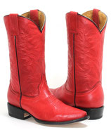 Rote Long Horn Westernstiefel in der Größe 39 - 39,5
