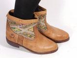 Hellbraune Boho Stiefel mit neuer Komplettbesohlung in der Größe 37