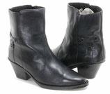 Schwarze, warme Westernstiefeletten mit Zipper in der Größe 39,5 - 40
