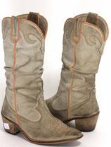 Vintage Stiefel für echte Raulederliebhaber, neue Absätze, Größe 37