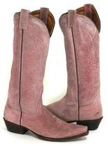 Pinkfarbene Langschaftstiefel von Buffalo, Weitschaftstiefel, Größe 40