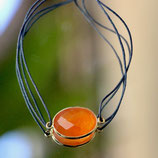 Bracelet fil Calcédoine orange