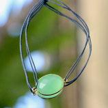 Bracelet fil Agate vert d'eau