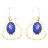 Boucles d'oreilles petit nuage Lapis-lazuli