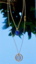 Old Fashion Lapis lazuli et Calcédoine bleu ciel