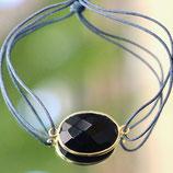 Bracelet fil Onyx noir