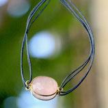 Bracelet fil Quartz rose