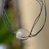 Bracelet fil Calcédoine grise