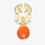 Bague B52 Calcédoine orange