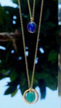 Old Fashion Lapis lazuli et Agate verte