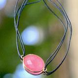 Bracelet fil Calcédoine rose
