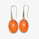 Boucles d'oreilles Calcédoine orange