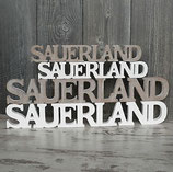 Sauerland Schriftzüge- Holz gesägt- SAUERLAND 40 x 2 x 6cm; Artikel 561016