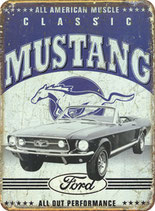 Mustang grau blau