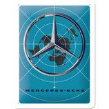 Merzedes - Benz Stern auf Weltkarte